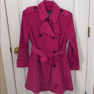 Vince Camuto Hot Pink All-Weather Trench